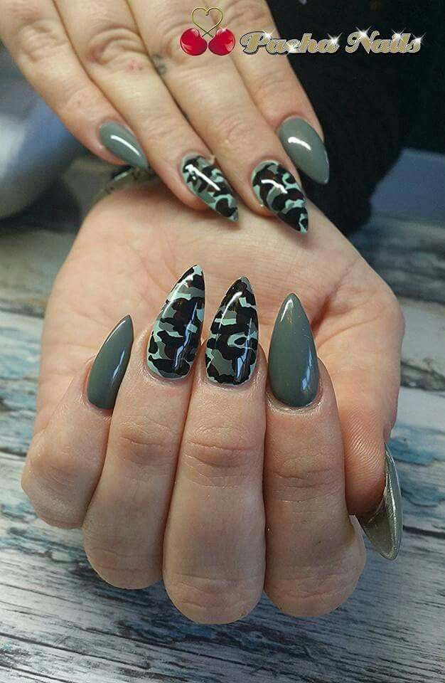 Pin By Ashley Ferrer On Nails In 2019 Camo Nails Nails Camouflage Nails