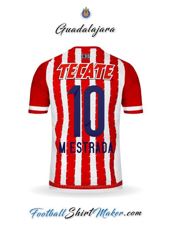 Crear Camiseta de Guadalajara 2015/2016 con tu Nombre y Numero