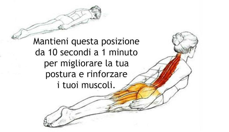 Ci sono molti esercizi semplici ed efficaci con i quali possiamo cominciare a correggere e migliorare la nostra postura. La posizione della locusta è uno di questi.