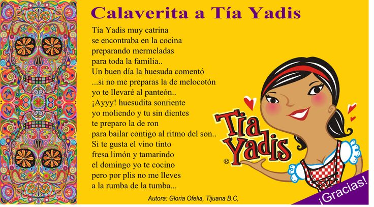 Great example of a Calaverita for upper levels--could be used as a model for them to write one of their own. Too much vocab for lower levels.