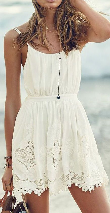 Tie-back Embroidered Cover-up