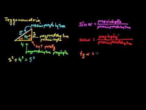 ▶ Podstawy trygonometrii - funkcje trygonometryczne w trójkącie prostokątnym - YouTube