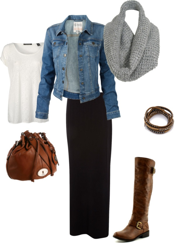"""fall"" by sachig on Polyvore I use to be very anti black and brown but It is growing on me..."