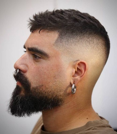 Tough Beard with Subtle Skin Fade 45 Stylish Hipster Hairstyles for Men | Cool H…
