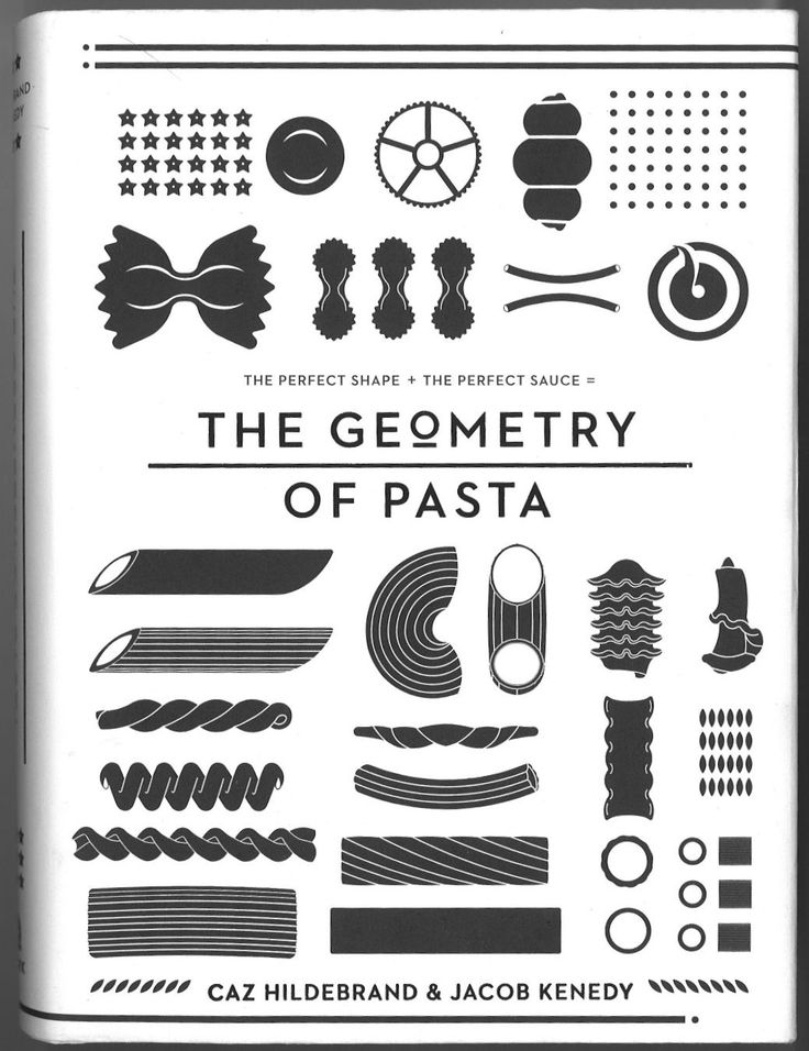 """italian customers """"The Geometry of Pasta pairs over 100 authentic recipes from acclaimed chef Jacob Kenedy with award-winning designer Caz Hildebrand's stunning black-and-white designs to reveal the science, culture, and philosophy behind spectacular pasta dishes from throughout Italian history."""""""