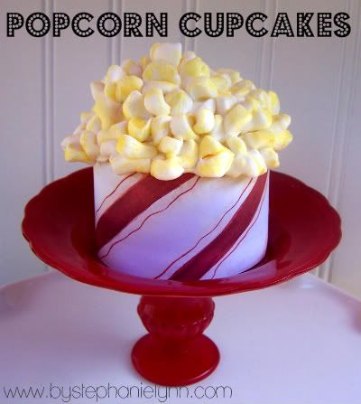 Under The Table and Dreaming: Popcorn Cupcakes {Cupcake Carnival}