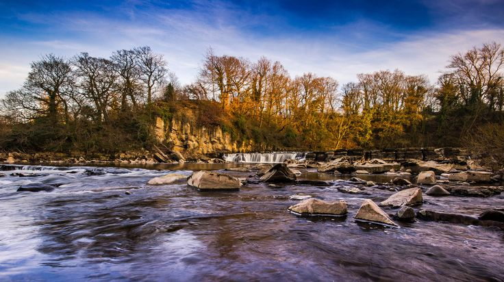 https://flic.kr/p/G9kesQ | Richmond Falls At Sundown. | The River Swale, Richmond, North Yorkshire taken on 21/03/2016.