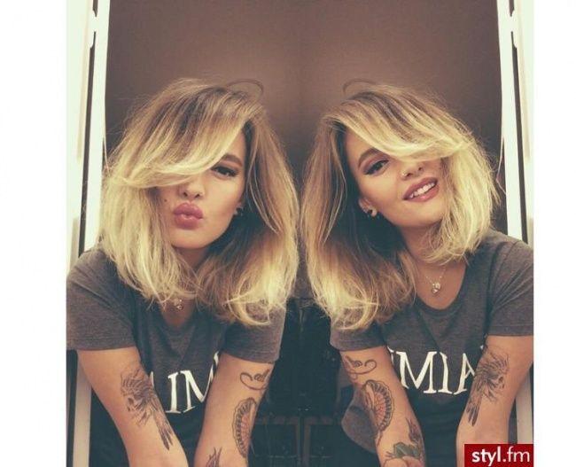 Przegląd trendów we fryzurach średnich 2016. Modne fryzury damskie z grzywką, bob, cieniowane dla półdługich włosów.