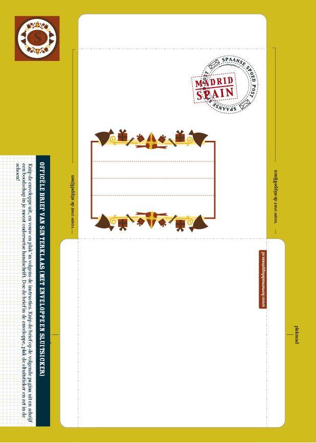 ~Envelop voor sinterklaas om uit te printen van Homemadehapiness~