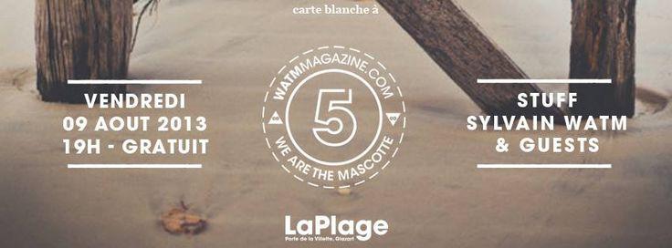 WATM Magazine a Carte Blanche  pour investir La plage Glazart ! #party