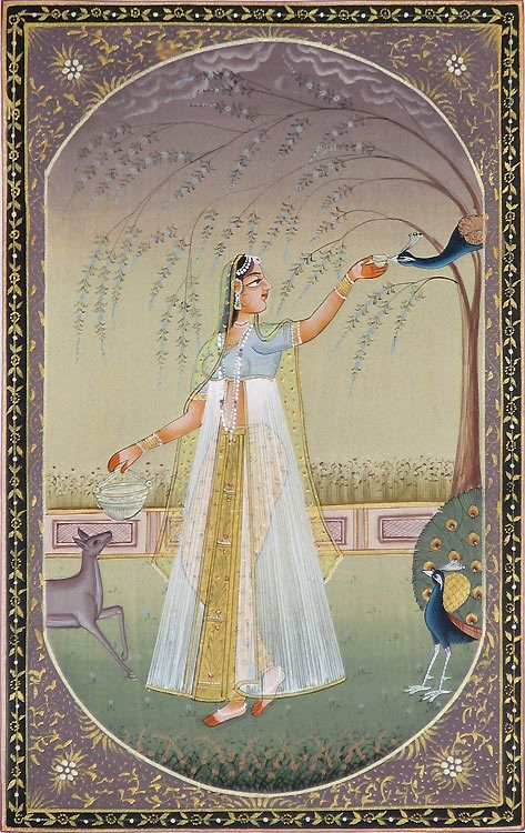 Ragini Vasanta - Miniature Painting from Rajasthan