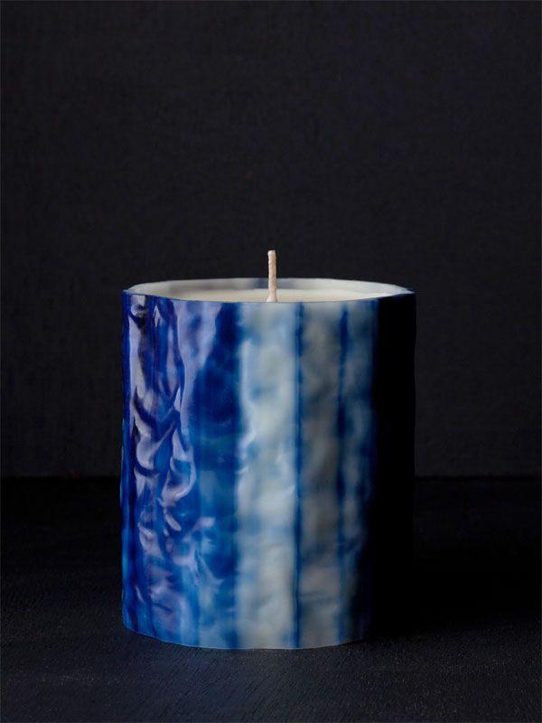 LE FEU DE L'EAU CANDLES  LE FEU BLEU PHTHALO  The Fire OF Phthalo Blue  Night Blooming Jasmine