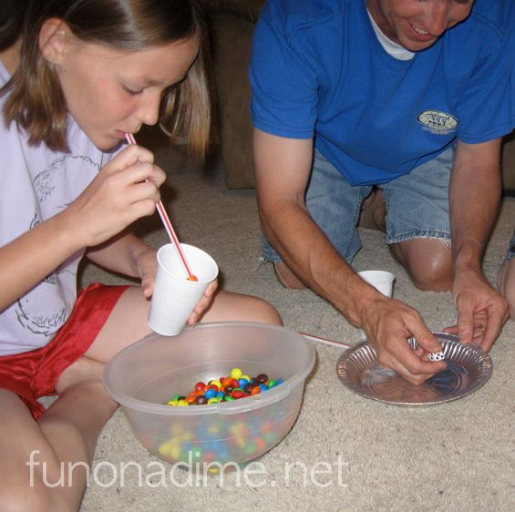 M&M Straw Game - family fun