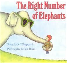 Here's an activity for using the book THE RIGHT NUMBER OF ELEPHANTS by Jeff Sheppard to focus on number sense and ideas about magnitude of numbers.