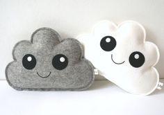 Wolken Knuffeltje Wolkjes set van twee Wolken van LilyRazz op Etsy