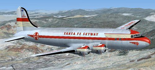 santa fe skyway airline | The Douglas DC-4