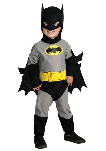 This infant Batman costume is a cute and afforable superhero costume for babies! Your baby can become the Dark Knight in this Batman Halloween costume for infants.