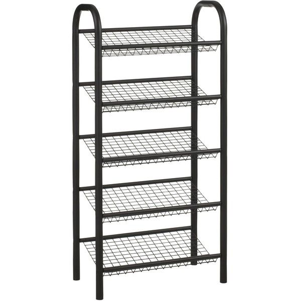 John Lewis 5 Tier Shoe Rack, Black ❤ liked on Polyvore featuring home, home improvement and storage & organization