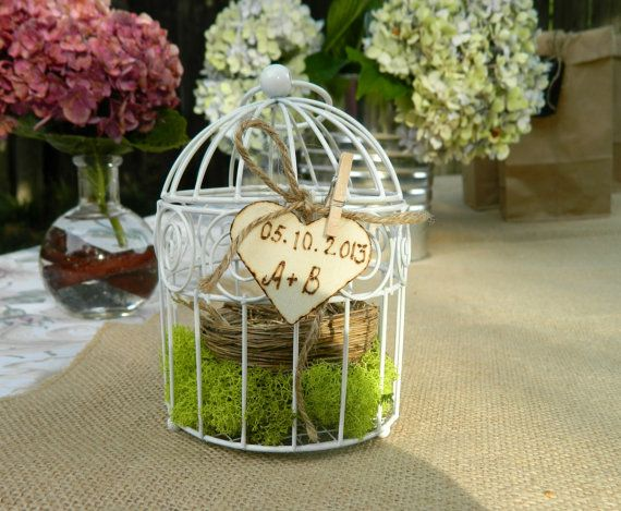 Ring Bearer Box Birdcage  Wedding Party White color by Modern101, $20.00