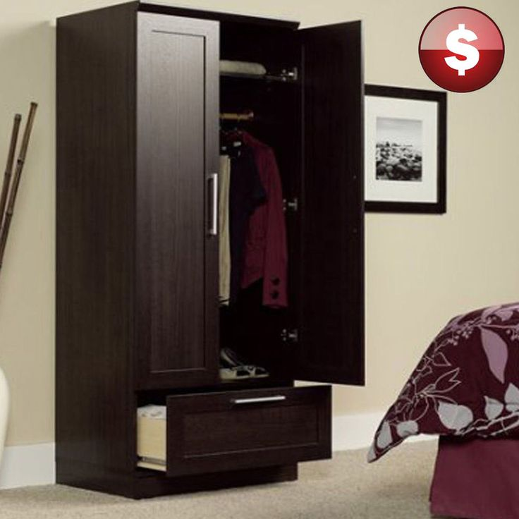 Incroyable ARMOIRE Wardrobe Storage CABINET Closet Shelf Organizer Wood Bedroom  Furniture #Branded #Contemporary