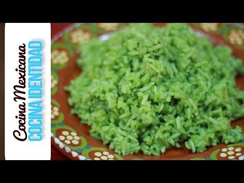 Receta de como preparar Arroz Verde. Receta Rápida y Fácil. Receta Mexicana. Yuri de Gortari - YouTube