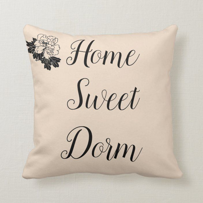 Throw Pillow Dorm Throw Pillow Zazzle Com In 2021 Throw Pillows Dorm Throw Pillows Personalized Room