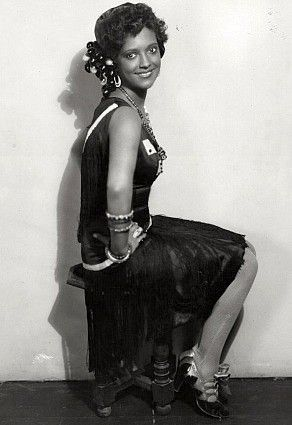"""Actress Nina Mae McKinney, dubbed """"The Black Garbo"""" in Europe, was one of the first African-American film stars in the United States and was one of the first African Americans to appear on British television."""