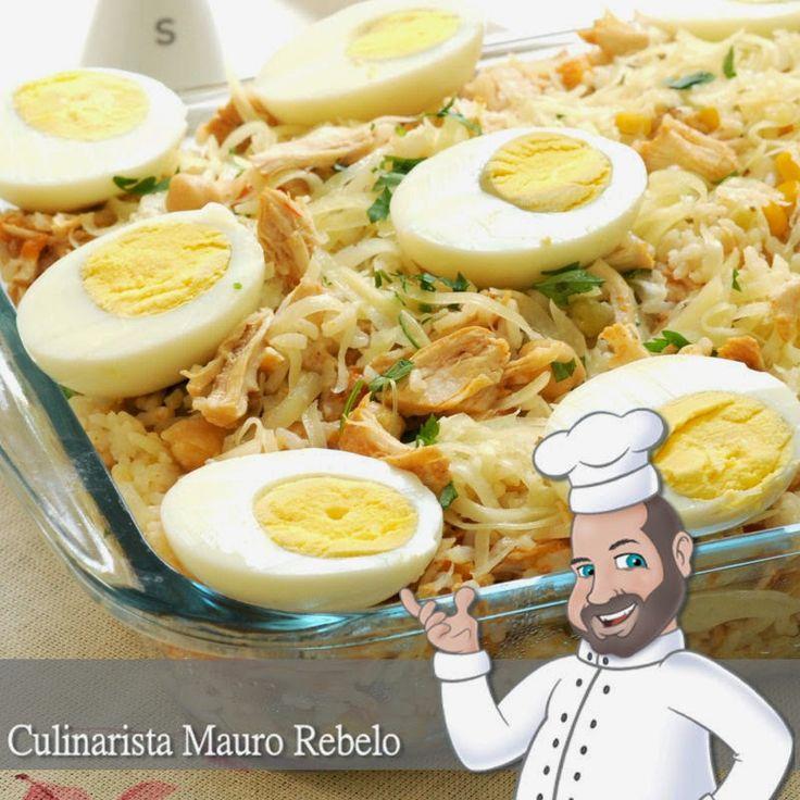 Arroz de Forno Olá pessoal, hoje vou passar a minha receita de arroz de forno de frango. É bem simples. Acompanhem a receita logo abai...