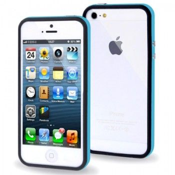 2-color Bumper Frame for iPhone 5 & 5s - Baby Blue