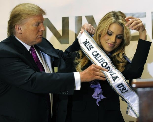 Miss California Carrie Prejean recalled Donald Trump forcing contestants to rate each other.