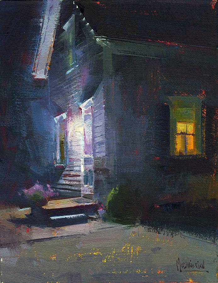 Leave the Light On by Jennifer McChristian Oil ~ 9 x 7