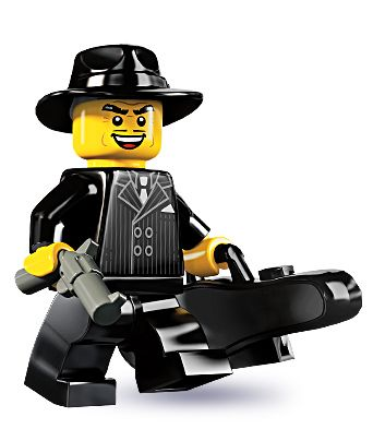 """Gangster -- """"Stick 'em up and hand over all your – aw no, it's the cops again!"""" 