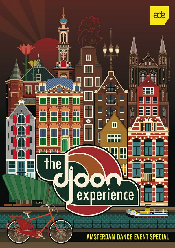 Djoon at Amsterdam Dance Event, by PROP4G4ND4, love this, must have been made in illustrator