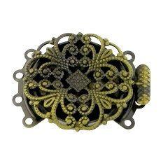 Antique Brass Bronze Filigree 4 Four Multi by FancyGemsandFindings, $4.50