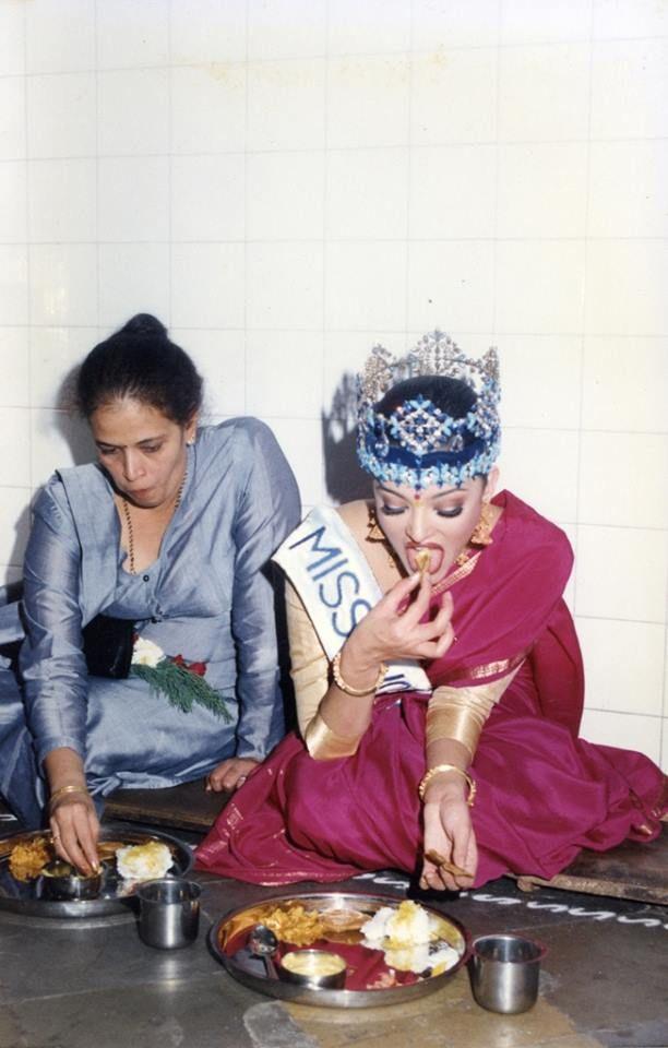 Aishwarya Rai Bachchan at a visit to an orphanage after winning Miss World