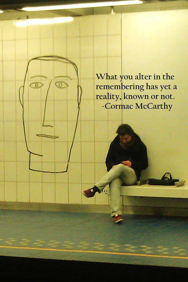 A picture I took in Brussels, Belgium + my favorite quote from 'The Road' by Cormac McCarthy