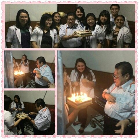 dr. Frans Wandi Permadi, Sp. PD birthday surprise on 19 january 2015 at rajawali hospital, Bandung with interna and exinterna. Our daddy and the best consulent...
