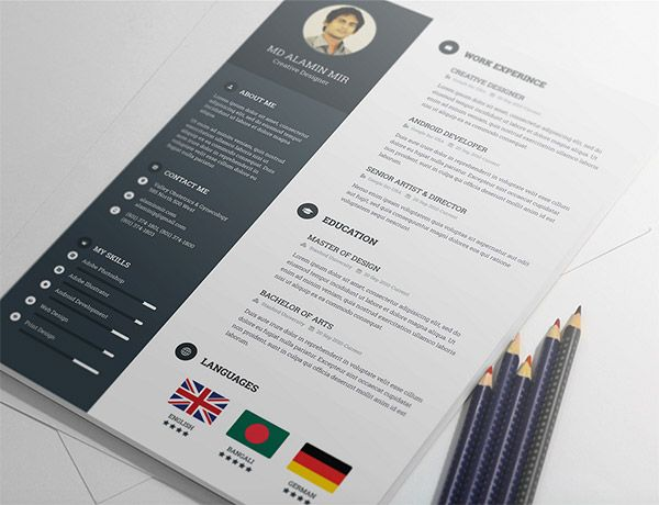 Illustrator Resume Templates 391 Best  Resume Invoice Proposal Designs Etcimages On