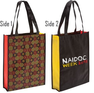 Naidoc Tote Bags - Print your company logo on these bags. Brilliant for Aboriginal Merchandise