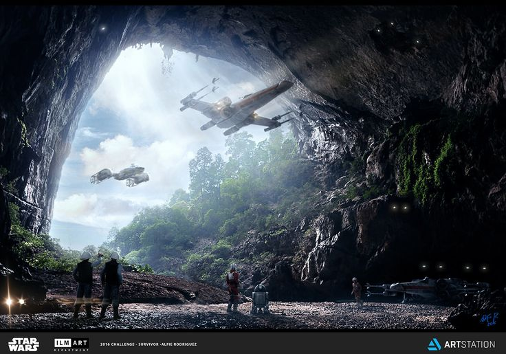 ArtStation - Rebel Hidden Base in SooKah System - ILM AD CHALLENGE - The Job, Alfie Rodriguez