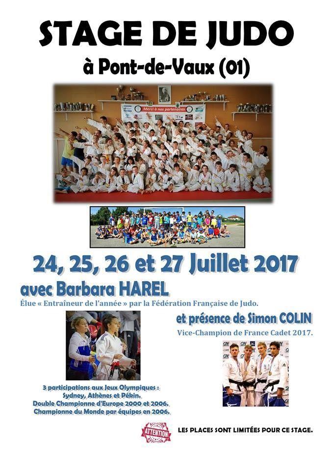 Barbara Harel sera de nouveau présente cet été pour animer un stage du Judo club pontévallois.