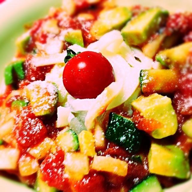 サッパリとしたものが食べたくて、冷製うどん作ってみました♡ - 2件のもぐもぐ - 夏野菜の冷製うどん by yukimon28
