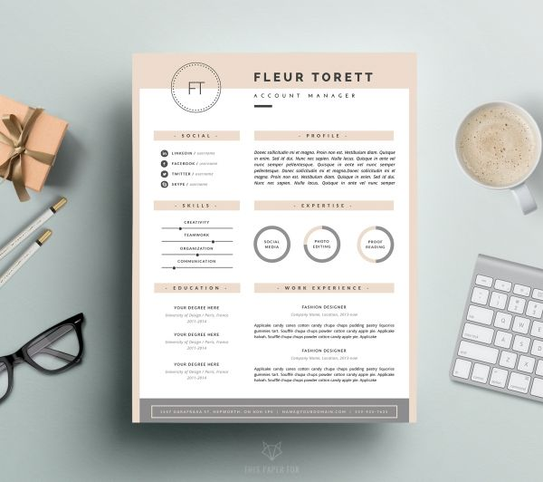 44 best Resume and Cover Letter Templates images on Pinterest - microsoft cover letter templates for resume