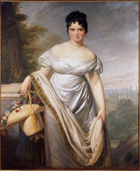Jacques Louis David, Portrait présumé de Madame de Caraman Chimay, ex Tallien, 1817, Douai, Musée de la Chartreuse