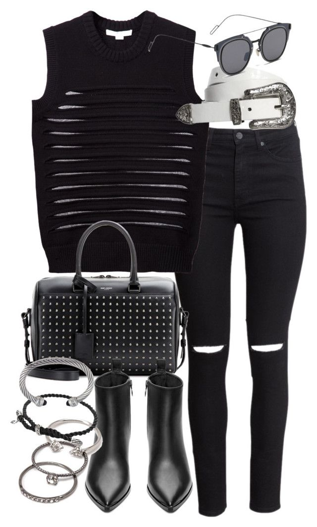"""""""Untitled #18725"""" by florencia95 ❤ liked on Polyvore featuring H&M, Alexander Wang, GANT, Yves Saint Laurent, Acne Studios, Forever 21 and David Yurman"""