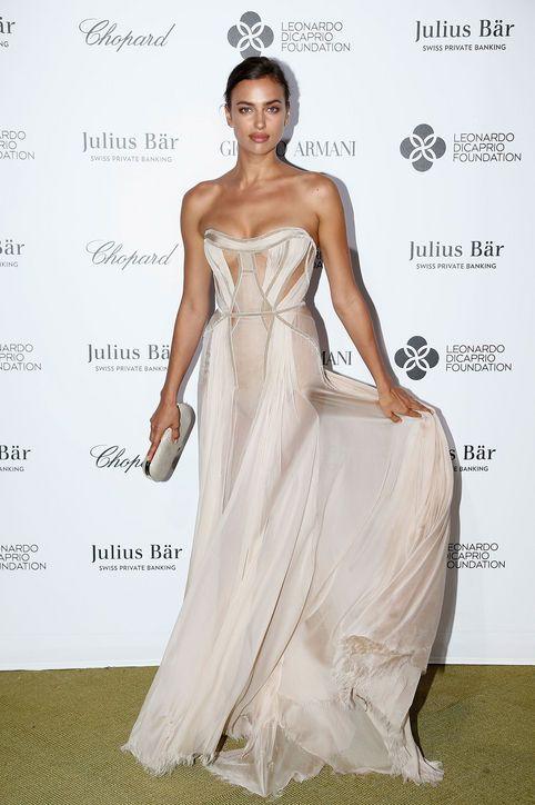 irina-shayk-pink-dress-leonardo-dicaprio-foundation-gala-2015