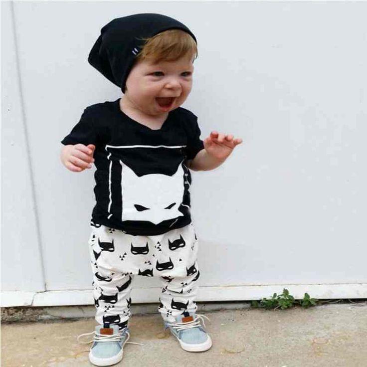 Batman Baby Boy Clothes Bebek Giyim Cotton Shirts + Pants Next Kids Baby Clothing Vetement Fille Newborn Clothing