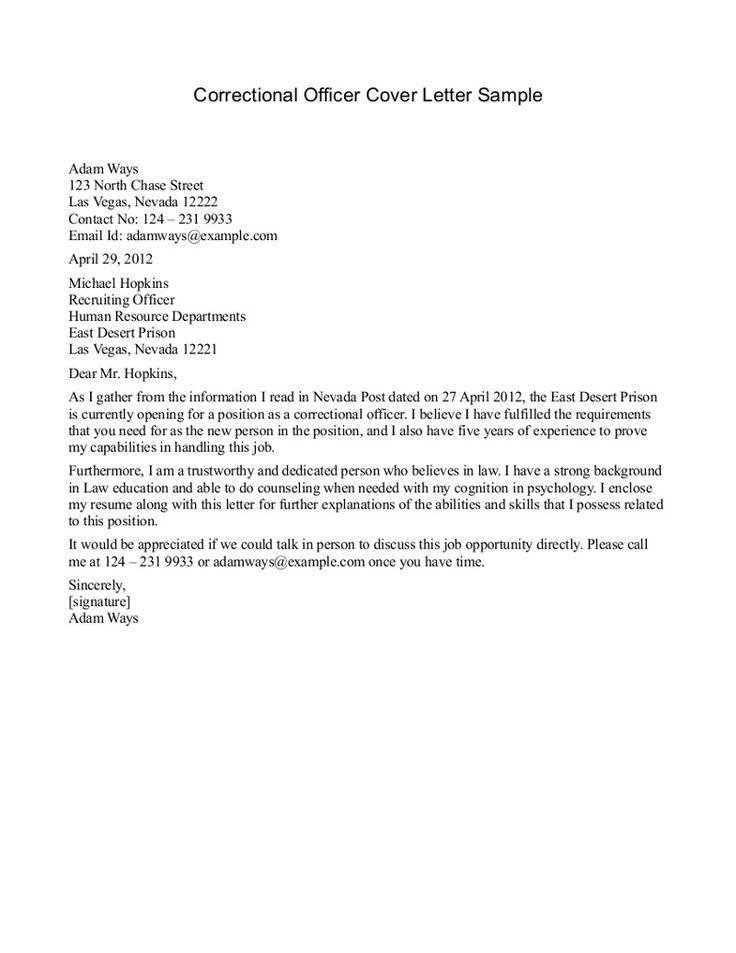 Resume For Detention Officer -    wwwresumecareerinfo resume - correctional officer cover letter