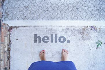 11 Ways To Get More From Your Summer Porch - Stencil a message. Eschew the typical welcome mat in favor of something more creative: words stenciled directly on the ground. Paint words on the steps, front walk or porch floor for a personal touch.