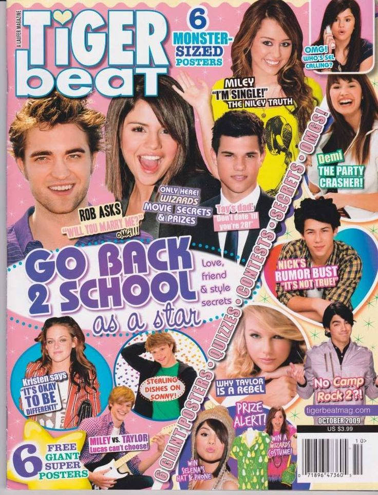Tiger Beat JONAS BROTHERS Taylor Lautner ROBERT PATTINSON Nick Jonas MILEY CYRUS  | eBay